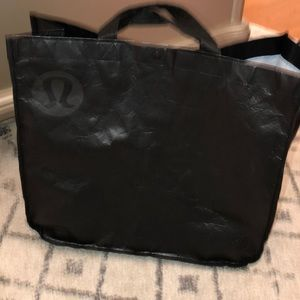 Large Black Lululemon Tote Bag